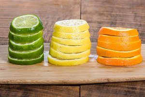Lemon, lime and orange slices