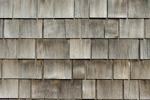 Cedar shake shingles on roof