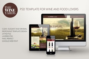 TheWineYards Responsive Psd Template