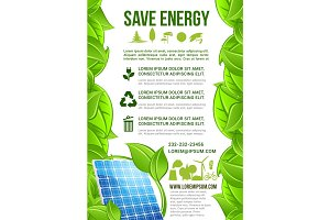 Vector energy and ecology conservation poster