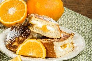 Orange marmalade stuffed toast