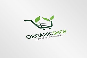 Organic Shop - Logo Template