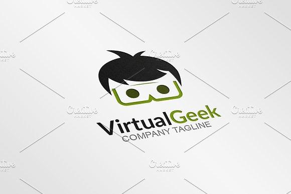 Virtual Geek Logo Template