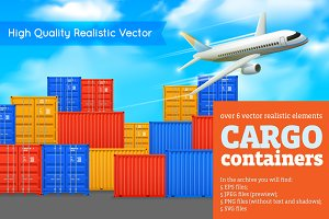 Cargo Containers Set