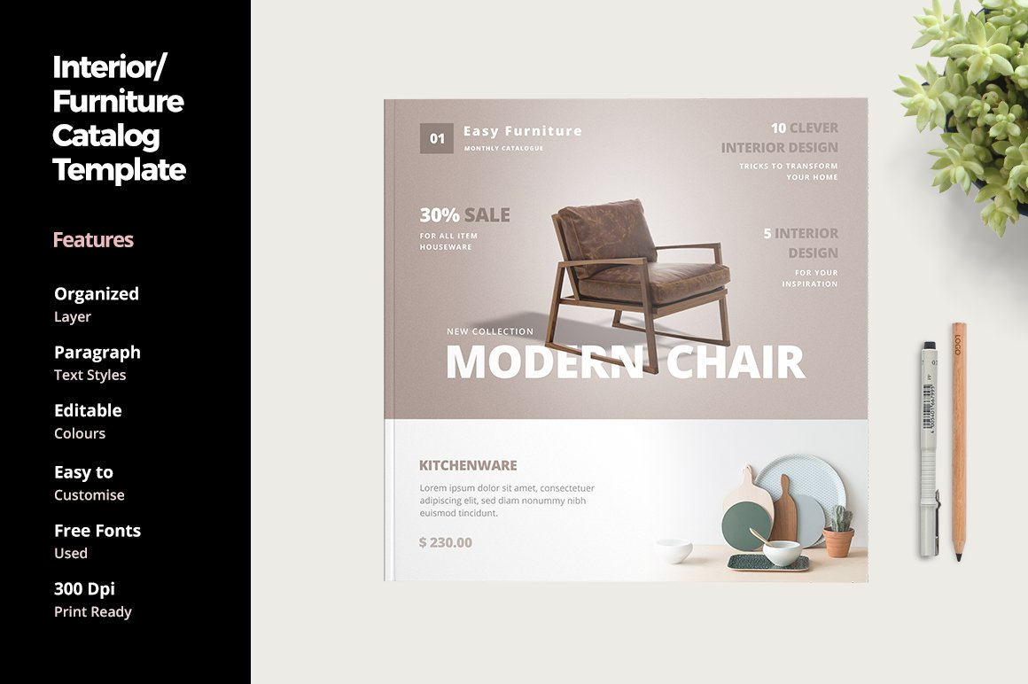 Furniture And Interior Catalog Templates Creative Market