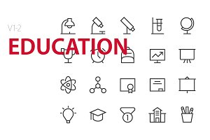 40 Education UI icons