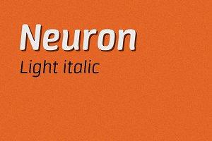 Neuron light italic
