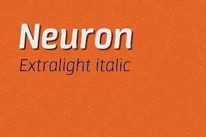 Neuron extralight italic