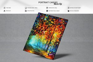 Portrait Canvas Mock-Up