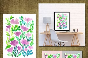 Hand painted flowers1A