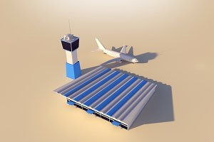 Cartoon Low Poly Airport