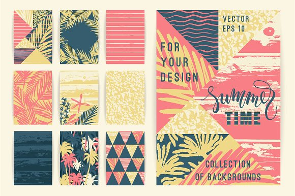 10 Summer Background Templates