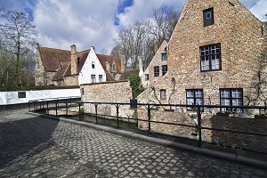 A small street in Bruges, Belgium