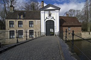 A Gate of Beguinage Bruges, Belgium