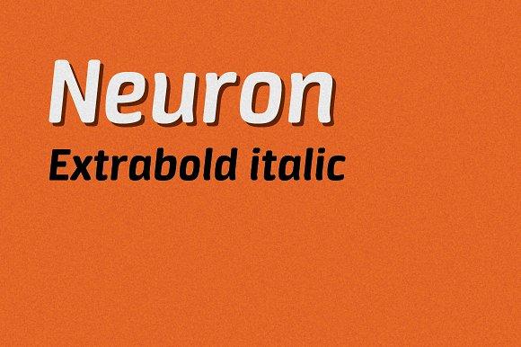 Neuron extrabold italic