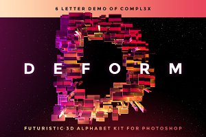 DEFORM - Futuristic 3D Alphabet Kit