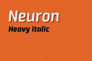 Neuron heavy italic