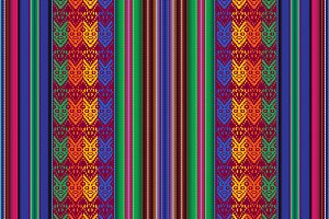 Seamless pattern indigenous people