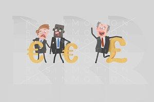 Different money symbols