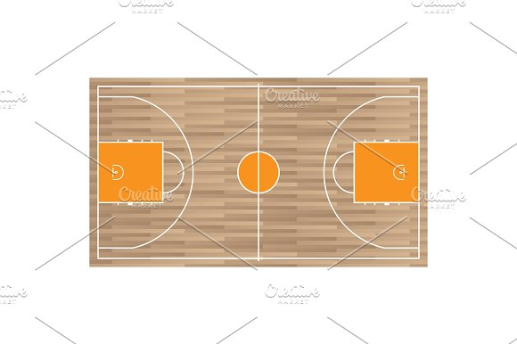 Wooden baseball court top view icon isolated on white
