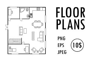 House First and second floor plans