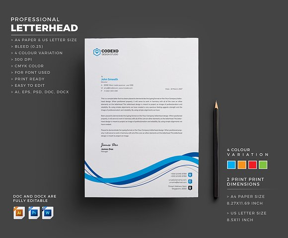 Creative Letterhead in Stationery Templates