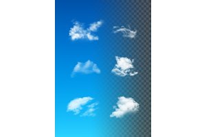 Set Of Realistic Vector Clouds