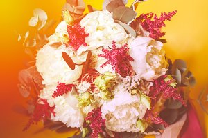 Luxuriant wedding bouquet