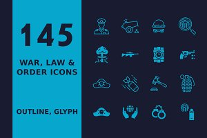 Military, Law & Order Icons
