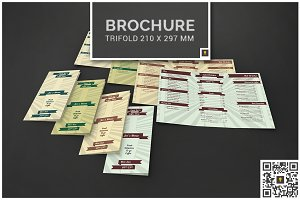 Retro Coffee Shop Menu Trifold