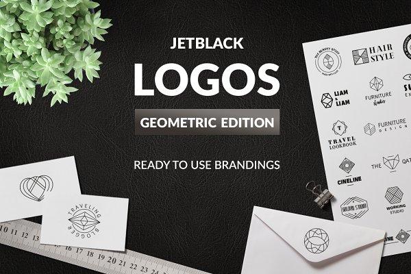 30 Premade Logos – Geometric Editio…