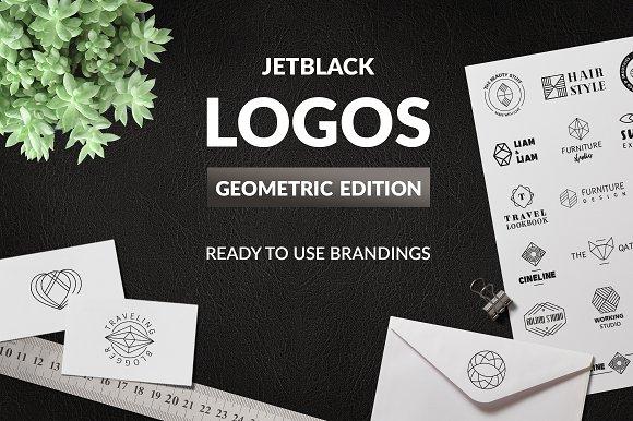 30 Premade Logos Geometric Edition