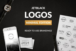 30 Premade Logos – Minimal Edition