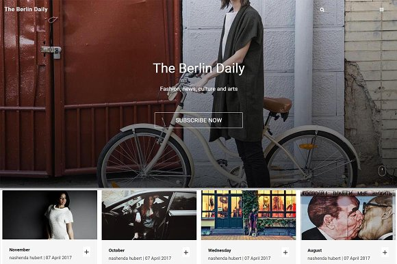 Berlin Responsive Ghost Theme