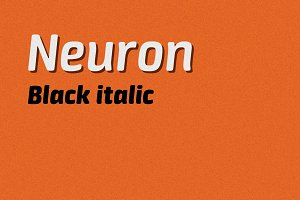 Neuron black italic