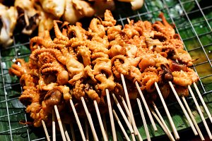 Street food in Asian country