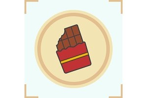 Chocolate color icon