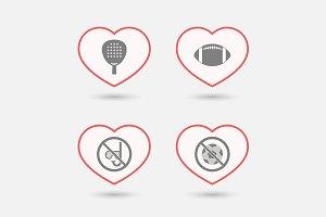 Heart Sport Set 06