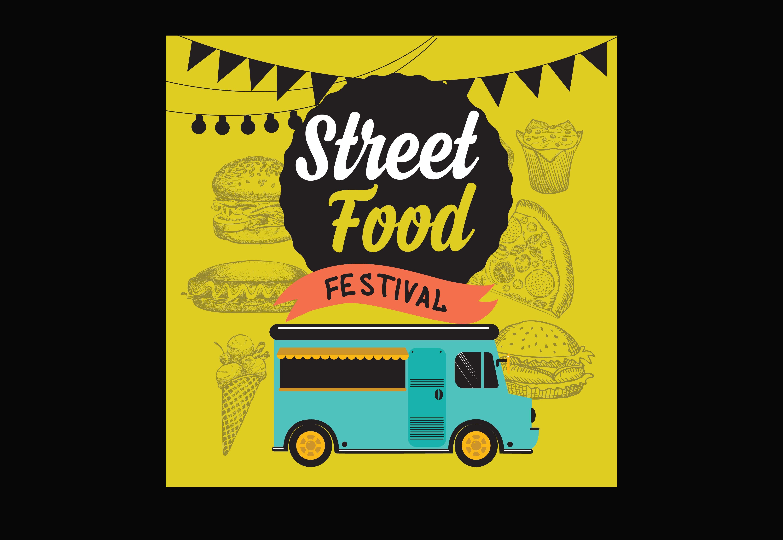 Street Food Festival Poster Illustrations Creative Market