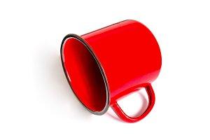 Empty red mug