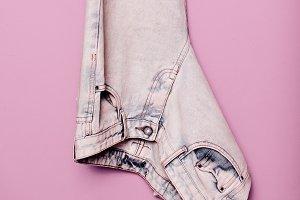 clothes. Jeans Denim. Minimal