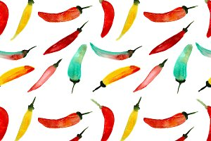 Hot chili peppers pattern