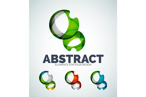 Vector sphere abstract icons
