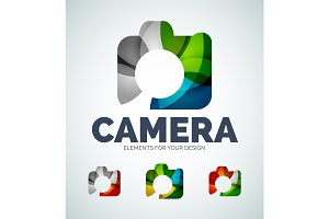 Vector photo camera abstract icons
