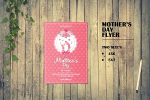 Mother's Day Flyer Template-V547