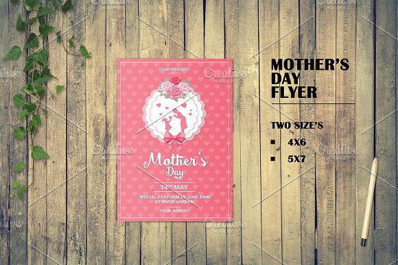 mother s day flyer template v547 flyer templates creative market
