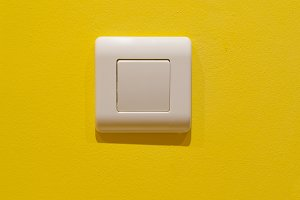 Switch button on a wall