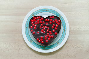 Heart cake for valentines. Love food