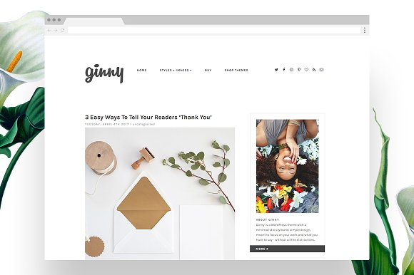 20 Clean & Minimal Wordpress Themes ~ Creative Market Blog