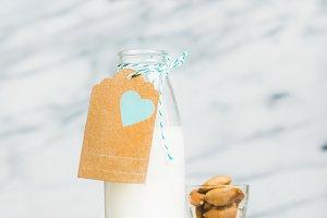 Homemade dairy-free almond milk